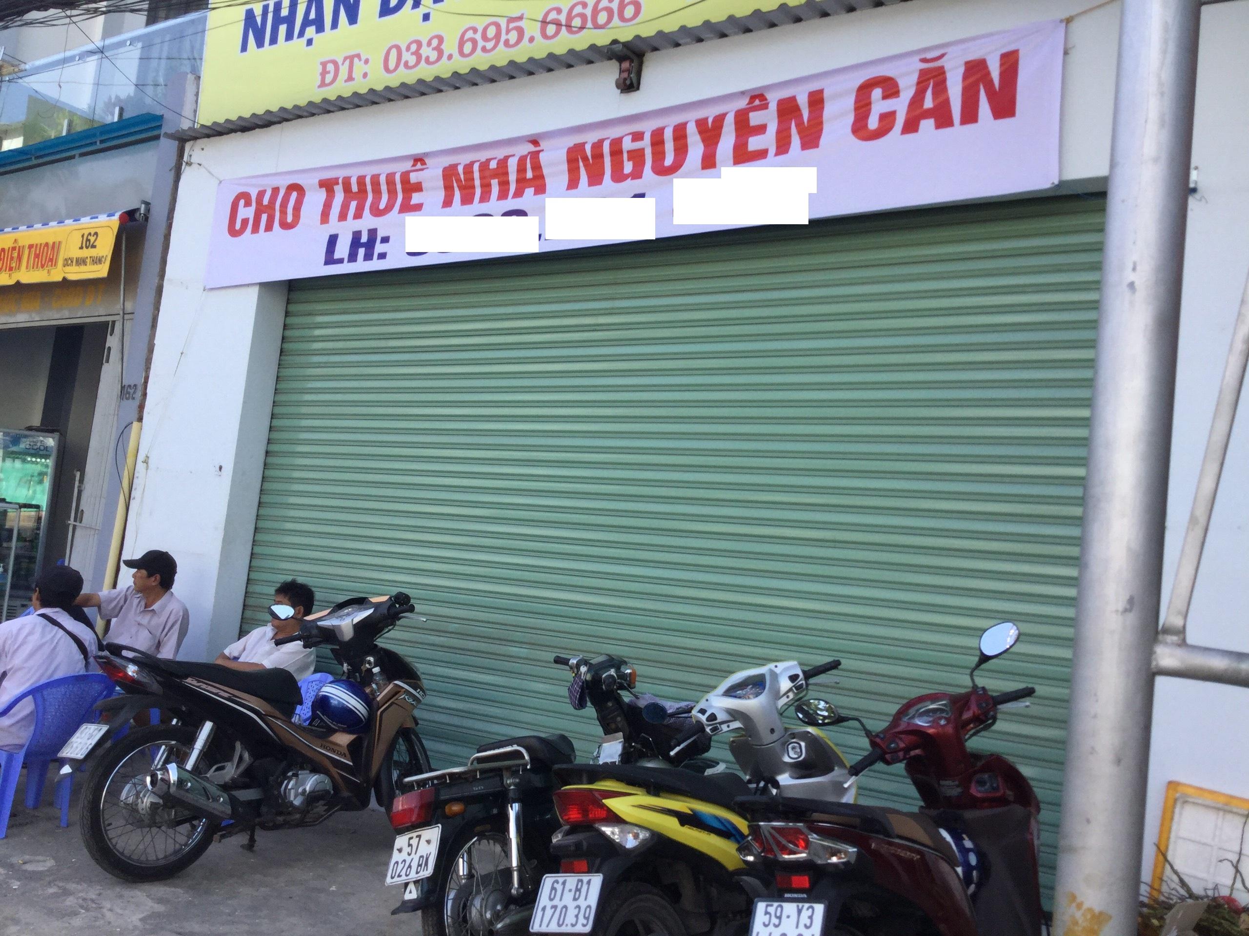 (MT 0014 ) Nhà Cho Thuê Mặt Tiền Đường CMT8 TP TDM